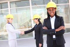 женщина команды человека конструкции Стоковое Изображение