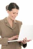 женщина компьтер-книжки компьютера стоковое изображение rf