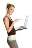 женщина компьтер-книжки Стоковое Фото