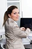 женщина компьютера дела Стоковые Фото