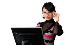 женщина компьютера дела Стоковое фото RF
