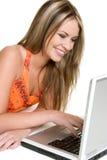 женщина компьютера Стоковое фото RF