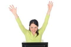 женщина компьютера Стоковые Фотографии RF