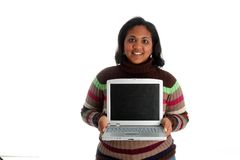 женщина компьютера Стоковые Изображения RF