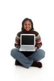 женщина компьютера Стоковое Изображение RF