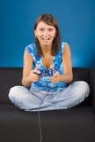 женщина компютерной игры стоковое изображение rf
