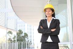 женщина конструкции архитектора Стоковая Фотография