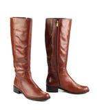 женщина конструкции коричневого цвета ботинок самомоднейшая Стоковое фото RF