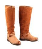женщина конструкции коричневого цвета ботинок самомоднейшая Стоковое Изображение