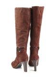 женщина конструкции коричневого цвета ботинок самомоднейшая Стоковые Фотографии RF