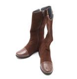 женщина конструкции коричневого цвета ботинок самомоднейшая Стоковые Изображения