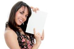 женщина контрольного списока Стоковые Фото