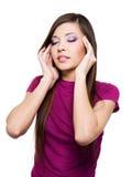 женщина концентрации Стоковая Фотография RF