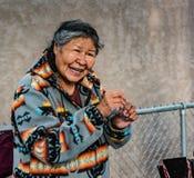 Женщина коренного американца в Альбукерке NM Стоковое Фото