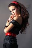 женщина коричневых волос длинняя Стоковые Фотографии RF