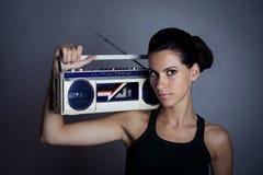 женщина коробки заграждения ретро Стоковое Изображение RF