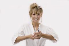 женщина косметики вспомогательного оборудования стоковые изображения rf