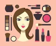 женщина косметик Стоковая Фотография RF