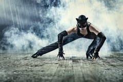 женщина костюма кота Стоковые Изображения RF