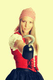Женщина костюма пирата Стоковые Фотографии RF