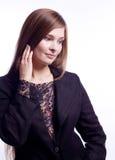 женщина костюма шнурка дела красотки Стоковая Фотография