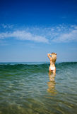 женщина красивейшего бикини белая Стоковые Фото