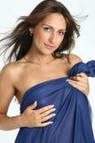 женщина красивейшего близкого портрета сексуальная поднимающая вверх Стоковая Фотография