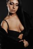 Женщина красивейшего брюнет сексуальная Стоковое фото RF