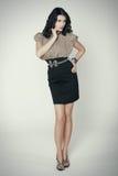 женщина красивейшего платья шикарная стоковая фотография rf