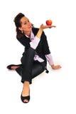 женщина красивейшего пола сидя стоковые изображения rf