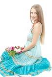 женщина красивейшего пола сидя Стоковое Изображение RF