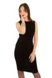 женщина красивейшего черного платья маленькая Стоковое Фото