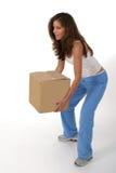 женщина красивейшей коробки 2 поднимаясь Стоковые Фотографии RF