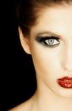 женщина красивейшей стороны брюнет половинная Стоковое Фото