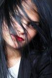 женщина красивейших волос брюнет длинняя стоковые фото