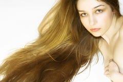 женщина красивейших волос длинняя Стоковые Фото