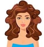 женщина красивейших волос пышная бобра бесплатная иллюстрация