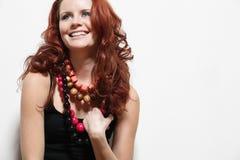 женщина красивейших курчавых европейских волос длинняя Стоковая Фотография RF