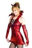 женщина красного цвета дьявола Стоковая Фотография