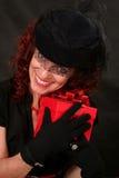 женщина красного цвета подарка Стоковое Изображение