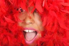 женщина красного цвета портрета пера Стоковая Фотография RF