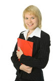 женщина красного цвета скоросшивателя дела Стоковая Фотография RF