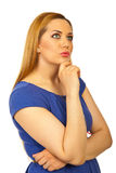 женщина красотки белокурая мечтая Стоковое фото RF