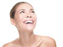 женщина красотки смеясь над Стоковое фото RF