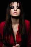 Женщина красоты с закоптелыми глазами Стоковое фото RF