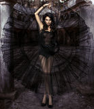 Женщина красоты чувственная в платье Стоковая Фотография RF