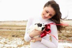 женщина кролика Стоковые Фотографии RF