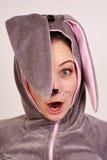 женщина кролика costume Стоковые Изображения