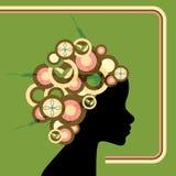 женщина круга ретро бесплатная иллюстрация