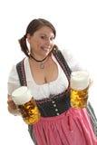 женщина кружек пива Стоковые Фото